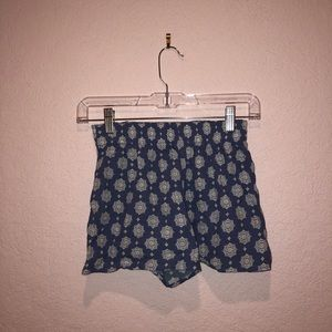 Nordstrom BP Blue Pattern Shorts